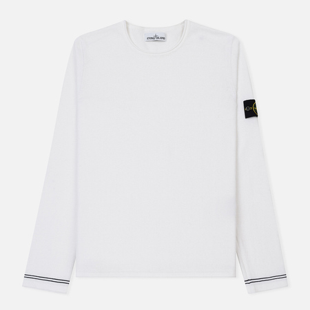 Мужской свитер Stone Island Crew Neck Knit Lightweight Cotton Crepe White