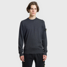 Мужской свитер Stone Island Crew Neck Lightweight Wool Charcoal фото- 1