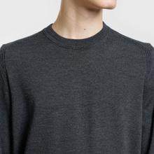 Мужской свитер Stone Island Crew Neck Lightweight Wool Charcoal фото- 2