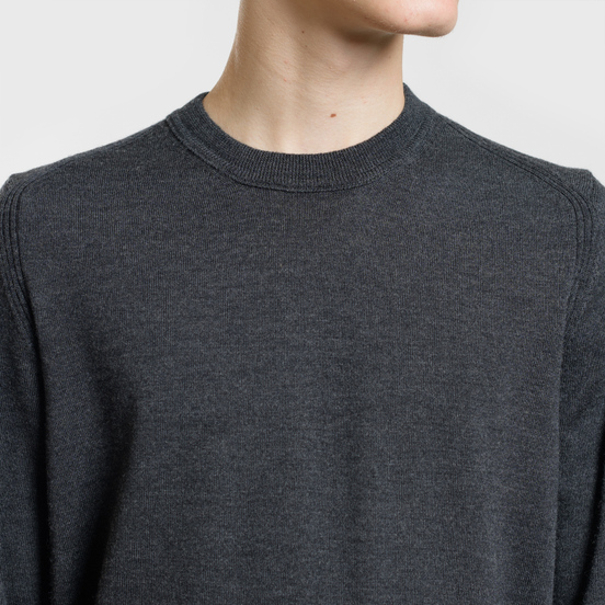 Мужской свитер Stone Island Crew Neck Lightweight Wool Charcoal