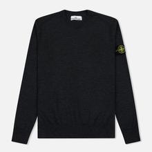 Мужской свитер Stone Island Crew Neck Lightweight Wool Charcoal фото- 0