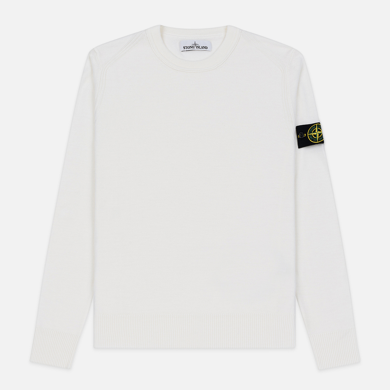 Мужской свитер Stone Island Crew Neck Lightweight Wool Natural White