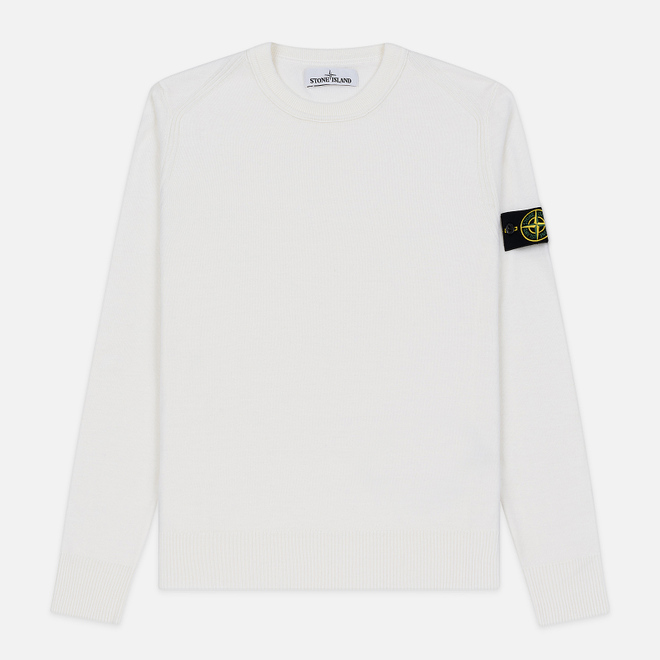Мужской свитер Stone Island Crew Neck Lightweight Wool Natural White