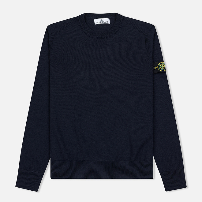 Мужской свитер Stone Island Crew Neck Lightweight Wool Navy
