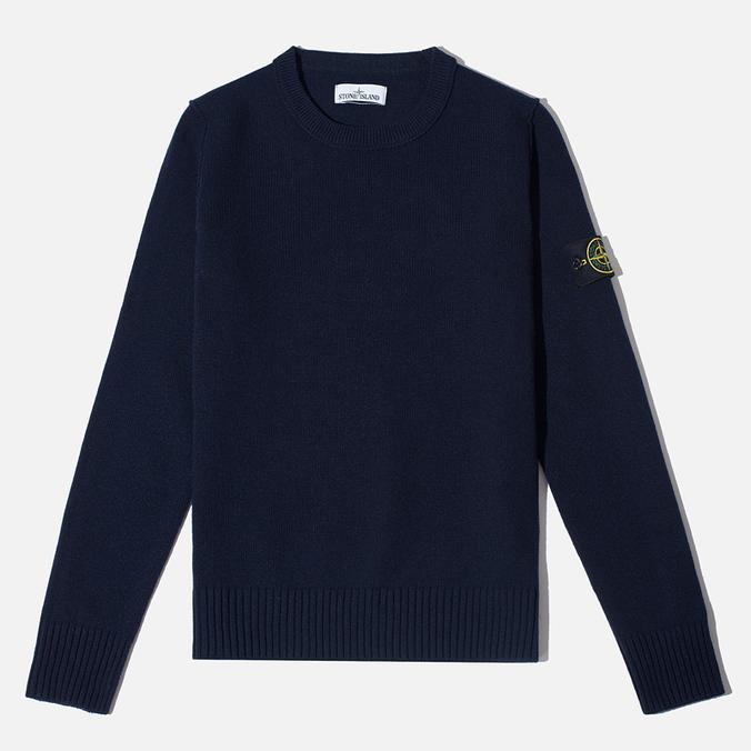 Мужской свитер Stone Island Crew Neck Navy