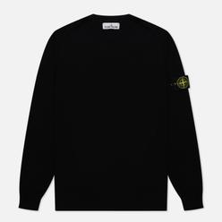 Мужской свитер Stone Island Crew Neck Smooth Cotton Black