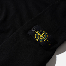 Мужской свитер Stone Island Crew Neck Smooth Cotton Black фото- 2