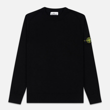 Мужской свитер Stone Island Crew Neck Smooth Cotton Black фото- 0