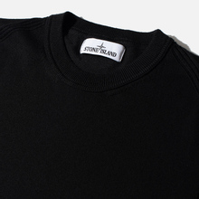 Мужской свитер Stone Island Crew Neck Smooth Cotton Black фото- 1