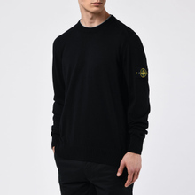 Мужской свитер Stone Island Crew Neck Smooth Cotton Black фото- 4