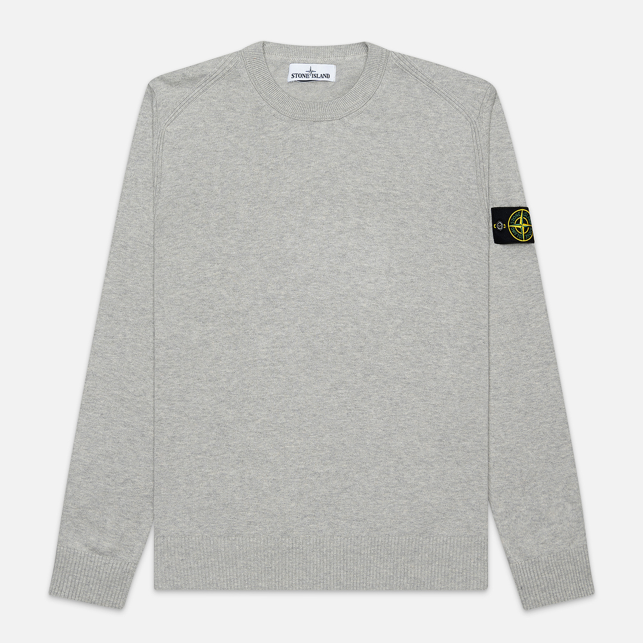 Мужской свитер Stone Island Crew Neck Smooth Cotton Dust Grey Melange