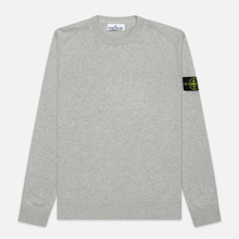 Мужской свитер Stone Island Crew Neck Smooth Cotton Dust Grey Melange фото- 0