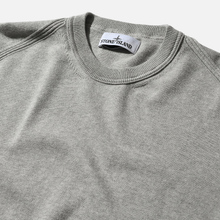 Мужской свитер Stone Island Crew Neck Smooth Cotton Dust Grey Melange фото- 1