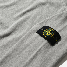 Мужской свитер Stone Island Crew Neck Smooth Cotton Dust Grey Melange фото- 2
