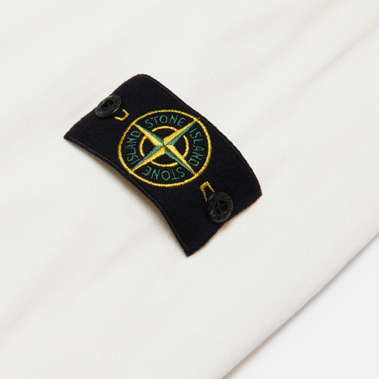 Мужской свитер Stone Island Crew Neck Smooth Cotton Ivory
