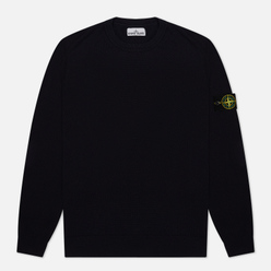 Мужской свитер Stone Island Crew Neck Smooth Cotton Navy Blue