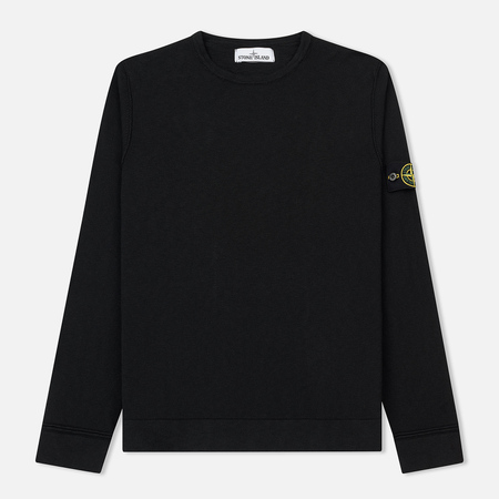 Мужской свитер Stone Island Crew Neck Stitch Nylon Cotton Black