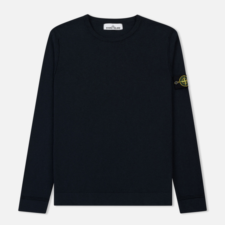 Мужской свитер Stone Island Crew Neck Stitch Nylon Cotton Navy Blue