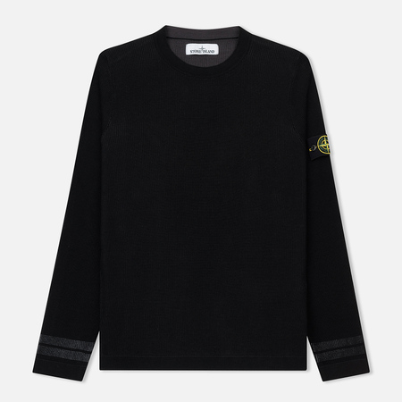 Мужской свитер Stone Island Crew Neck Two Different Coloured Black