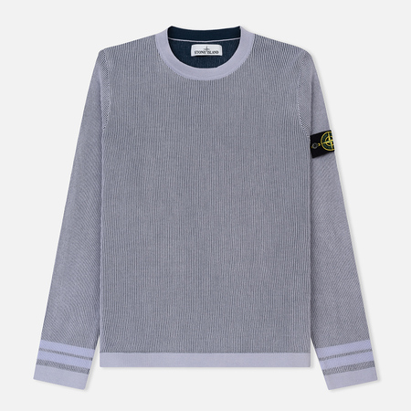 Мужской свитер Stone Island Crew Neck Two Different Coloured Lavender