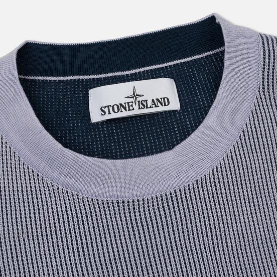 Мужской свитер Stone Island Crew Neck Two Different Coloured Lavender