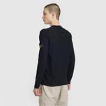 Мужской свитер Stone Island Crew Neck Ultra-Light Ultra-Fine Cotton Black фото- 3