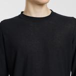 Мужской свитер Stone Island Crew Neck Ultra-Light Ultra-Fine Cotton Black фото- 2