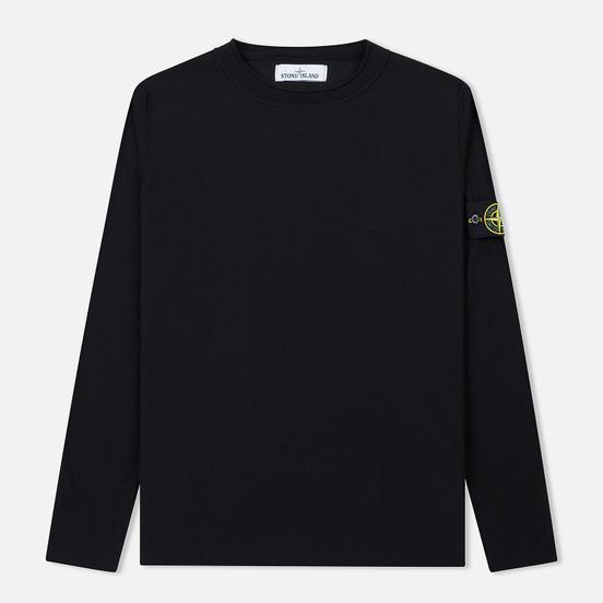 Мужской свитер Stone Island Crew Neck Ultra-Light Ultra-Fine Cotton Black