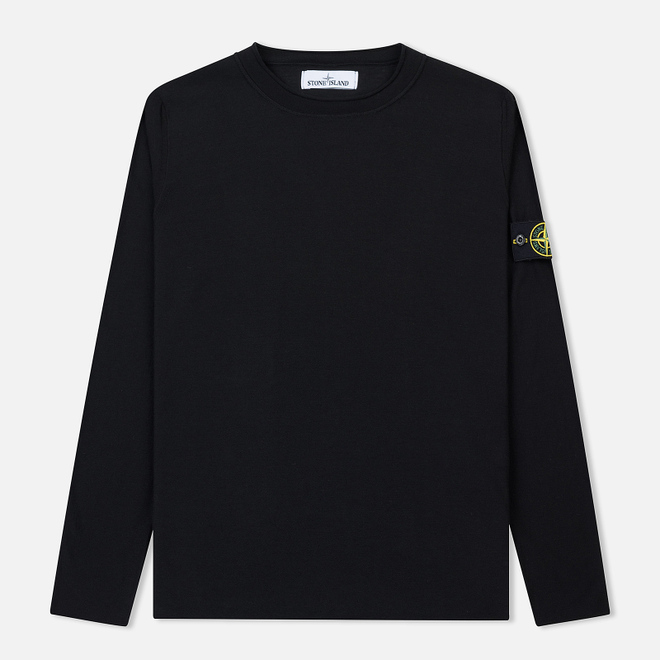 Мужской свитер Stone Island Crew Neck Ultra-Light Ultra-Fine Cotton Black