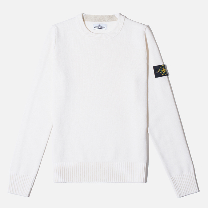 Stone Island Crew Neck Men's Sweater White