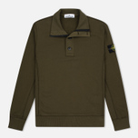 Мужской свитер Stone Island Double Button Zip Military Green фото- 0