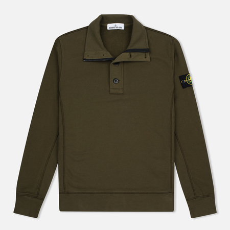 Stone Island Double Button Zip Men's sweater Military Green