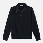 Мужской свитер Stone Island Double Button Zip Black фото- 0