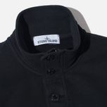 Мужской свитер Stone Island Double Button Zip Black фото- 1