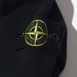 Мужской свитер Stone Island Double Button Zip Black фото- 3