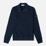 Мужской свитер Stone Island Double Button Zip Navy фото- 0