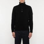 Мужской свитер Stone Island Double Button Zip Wool Black фото- 5