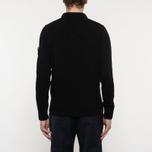 Мужской свитер Stone Island Double Button Zip Wool Black фото- 6