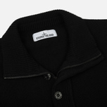 Мужской свитер Stone Island Double Button Zip Wool Black фото- 1