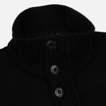 Мужской свитер Stone Island Double Button Zip Wool Black фото- 2