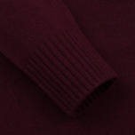 Мужской свитер Stone Island Double Button Zip Wool Bordeaux фото- 3