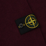 Мужской свитер Stone Island Double Button Zip Wool Bordeaux фото- 4