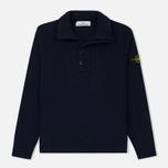 Мужской свитер Stone Island Double Button Zip Wool Navy фото- 0