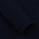 Мужской свитер Stone Island Double Button Zip Wool Navy фото- 3