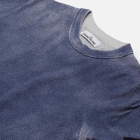 Мужской свитер Stone Island Hand Sprayed Treatment Blue Marine