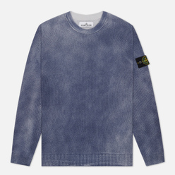 Мужской свитер Stone Island Hand Sprayed Treatment Blue Marine