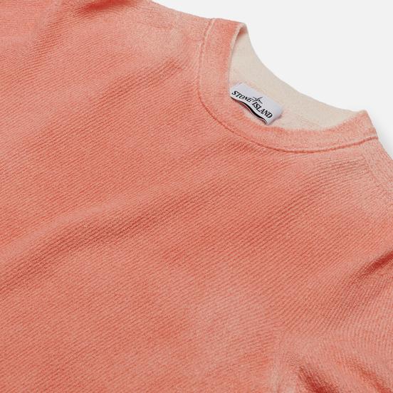 Мужской свитер Stone Island Hand Sprayed Treatment Orange Red