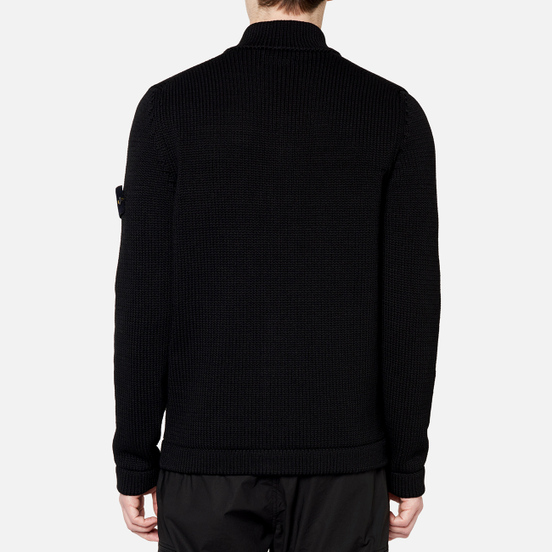 Мужской свитер Stone Island Heavy Cardigan Knit Black