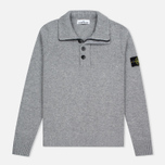 Мужской свитер Stone Island High Collar Grey фото- 0