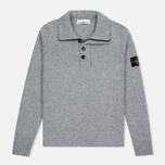 Stone Island High Men's sweater Collar Grey photo- 0